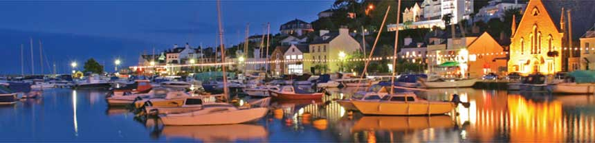 St Aubin Village at night