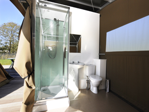 Private toilet and showering facilities
