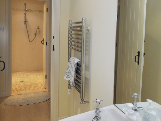 Shower room viewed from cloakroom