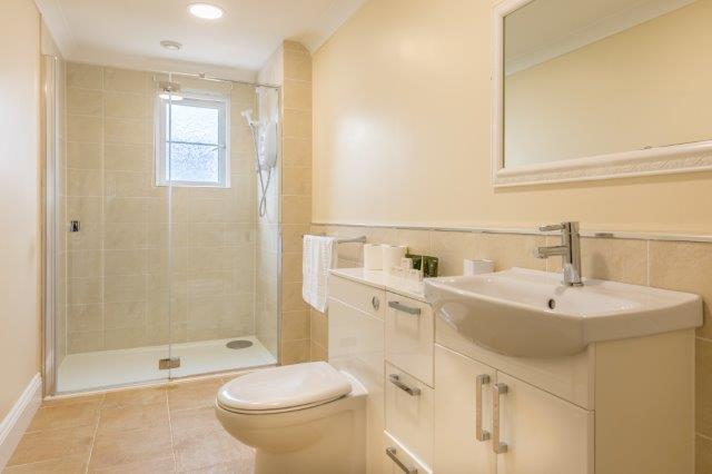 Family bathroom with large shower