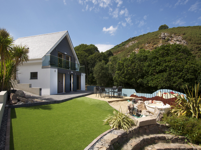 View of Reef View Villa and garden at Bouley Bay