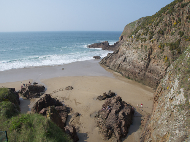Plemont beach on the north west coast is a short drive away