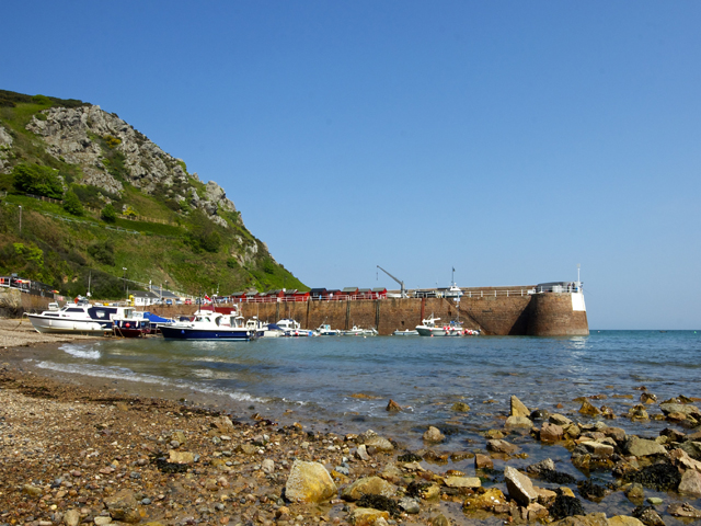 The pretty harbour at nearby Bonne Nuit Bay