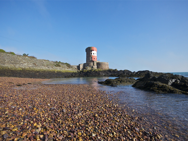 Archirondel Tower near St Catherine's breakwater on the East coast
