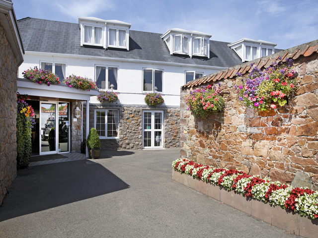 Entrance to Beausite Hotel & Apartments Jersey
