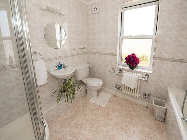 Bathroom with both bath and shower. There is a separate shower rooom on the ground floor.