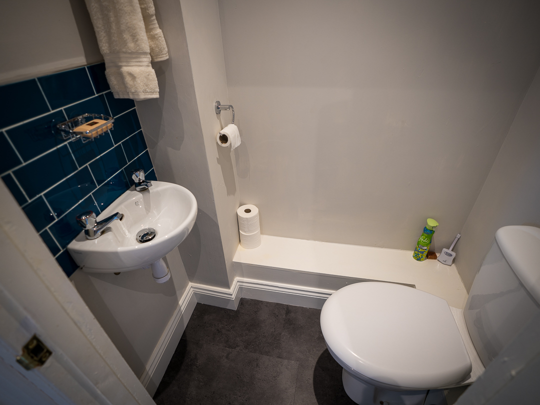 Separate toilet and basin