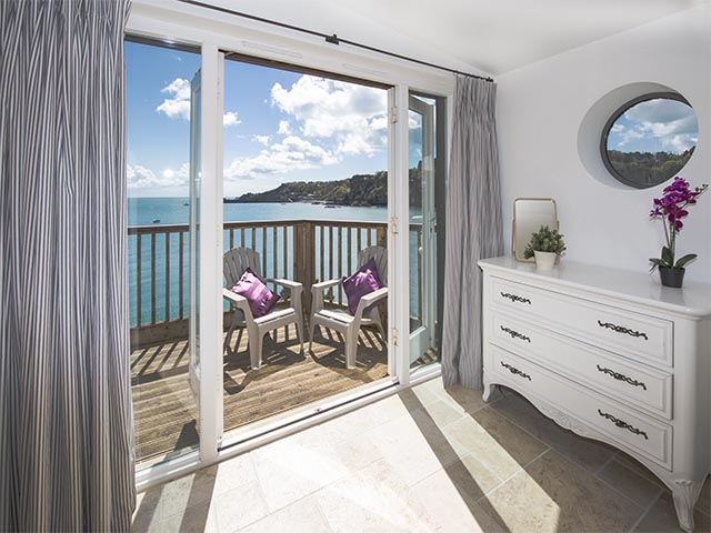 Sea view and private terrace of bedroom one
