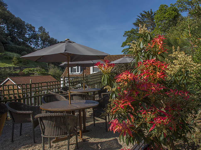 Relax in the beer garden at the Rozel Bay pub and restaurant