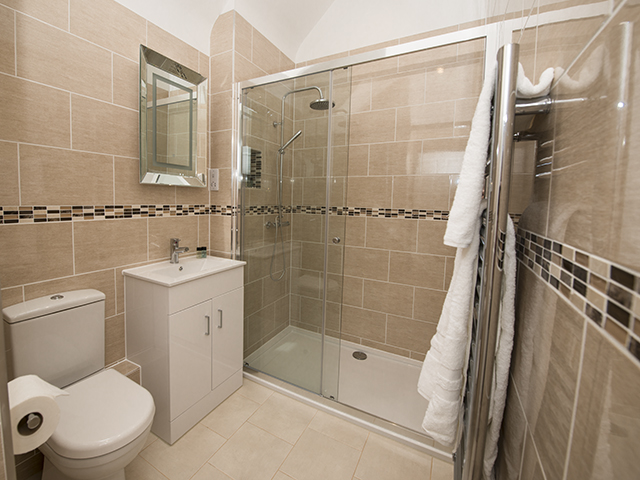 Shower room with spacious shower
