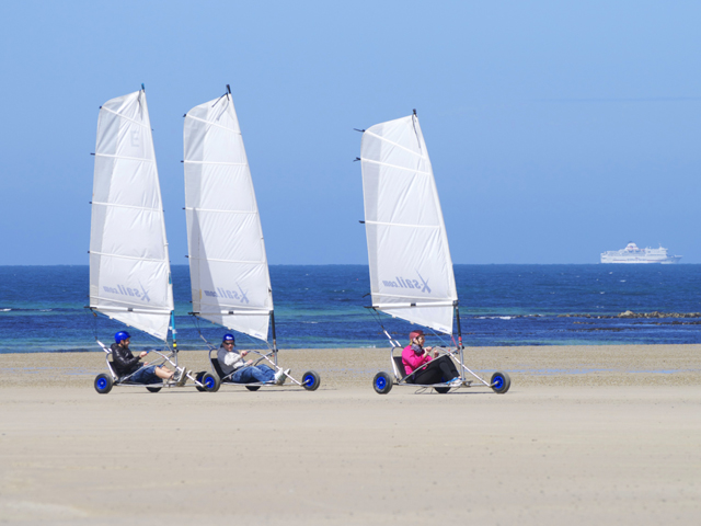 Blo Karts on the beach at St Ouen