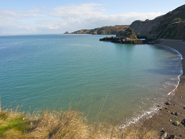 Bouley Bay with the french coast in the distance