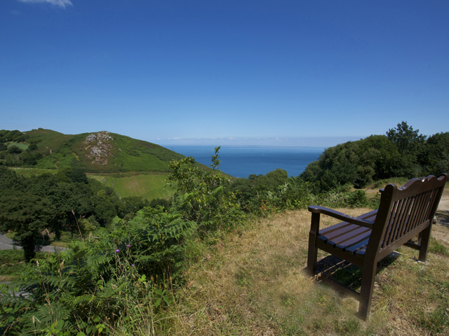 Jersey view - the french coast seen from the top of Bouley Bay