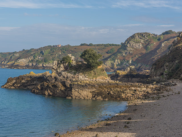 View of Bouley Bay in the Autumn sunshine