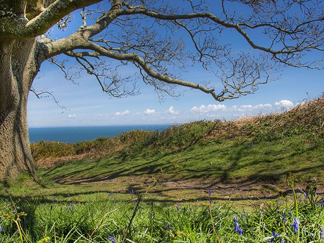 View from cliff path linking Bouley Bay to Bonne Nuit