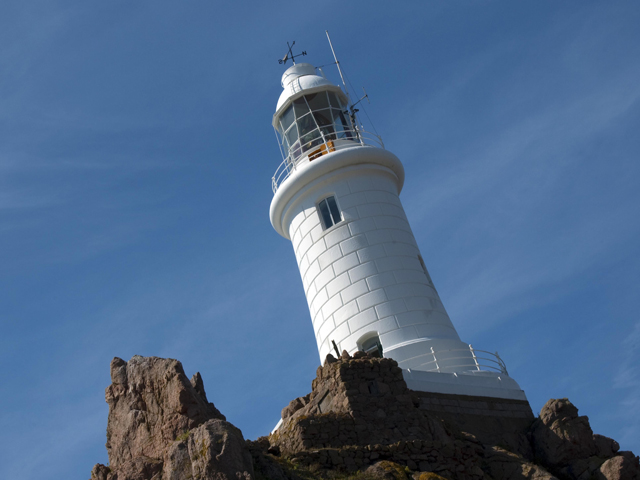 Corbiere Lighthouse on the south west tip of the island