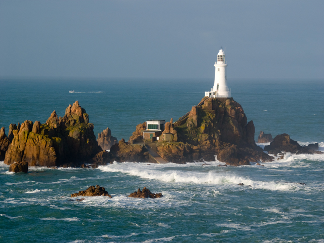 View of Corbiere Lighthouse, Jersey