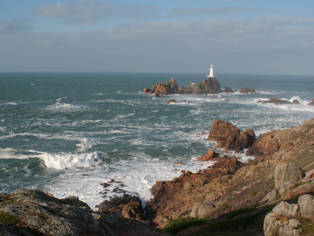 Corbiere Lighthouse is nearby