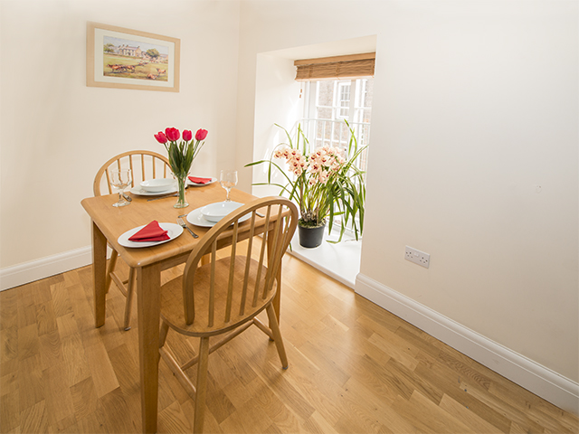 Dining area in open plan lving area
