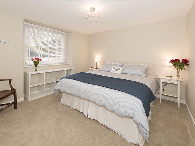 First of two bedrooms with super king-sized double bed which can be made up as twin beds
