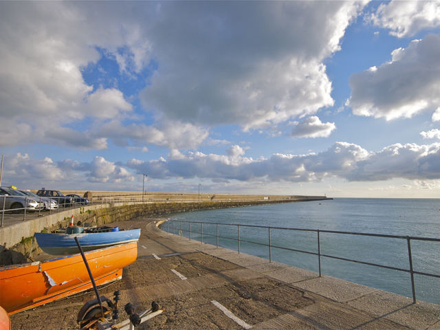Enjoy a stroll along St Catherine's breakwater