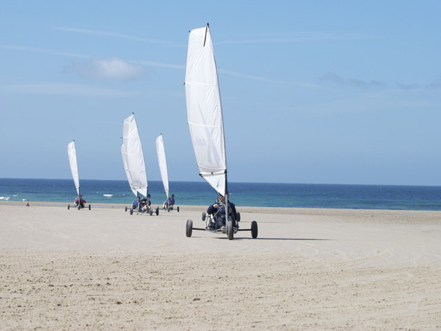 Blo-karts on St Ouen's Bay