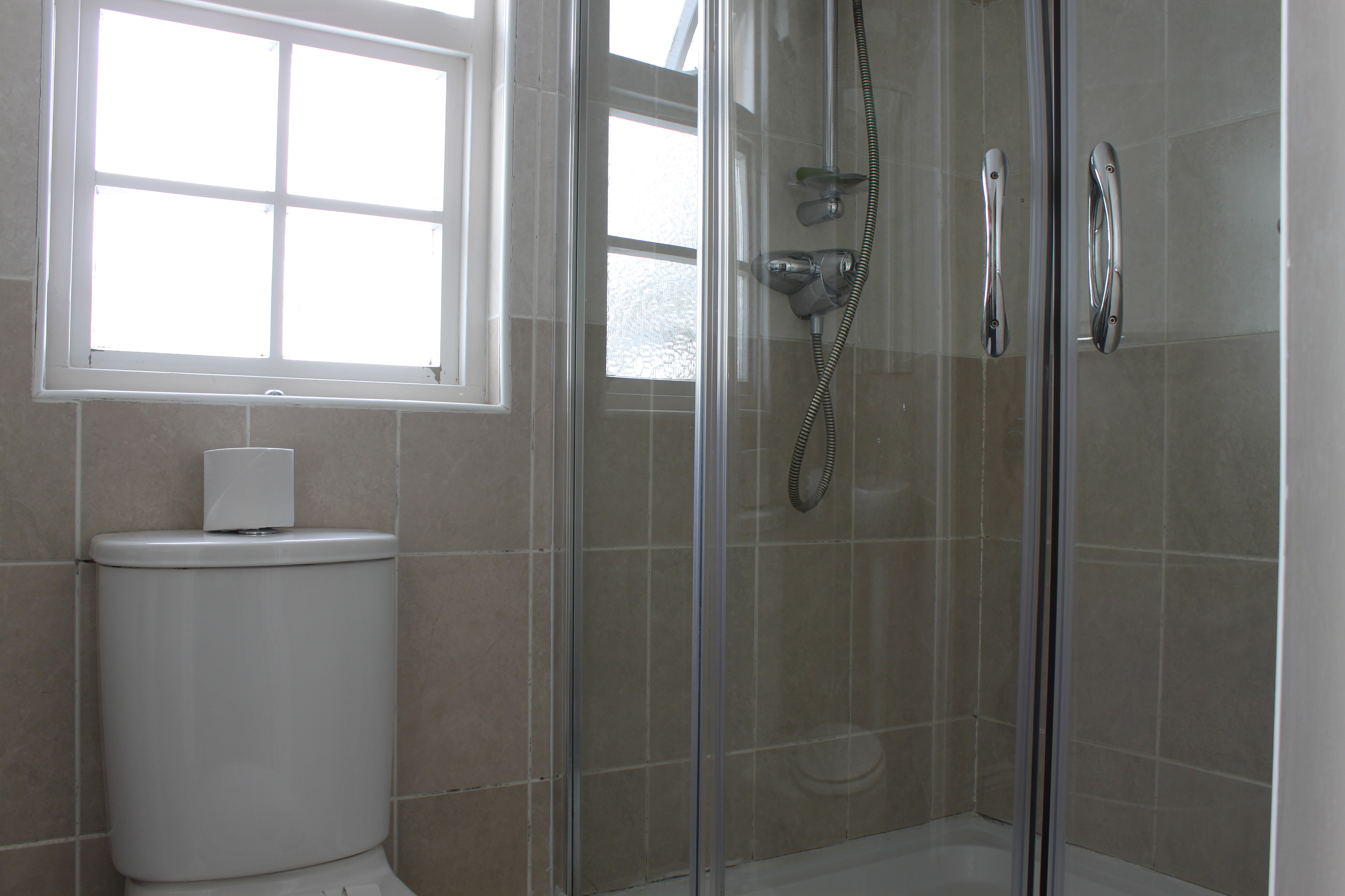 Ensuite with shower, sink and toilet