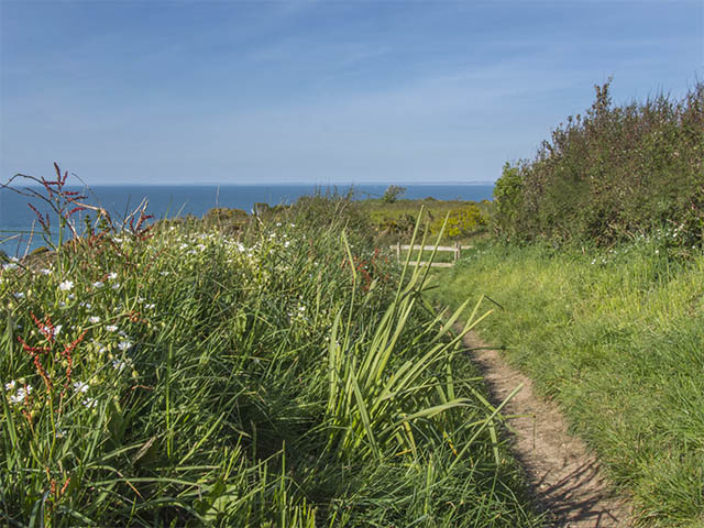 The North coast cliff path with french coast view