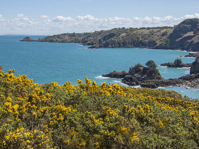 View towards the french coast from the Bouley Bay cliff path