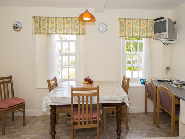 Dining area in the kitchen