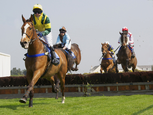 Horse racing takes place during the summer at Grosnez