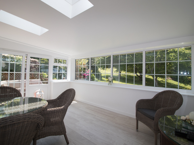 Beautiful open plan dining area with views over garden