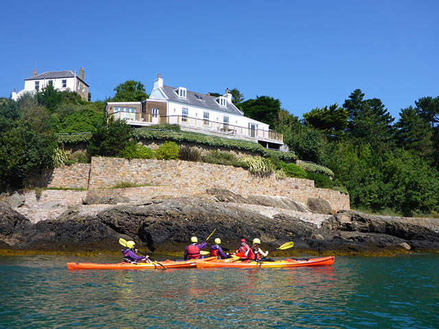 Jersey Kayak Adventures paddling past L'Hopital