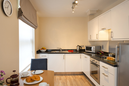 Kitchens are well equipped including a microwave and oven