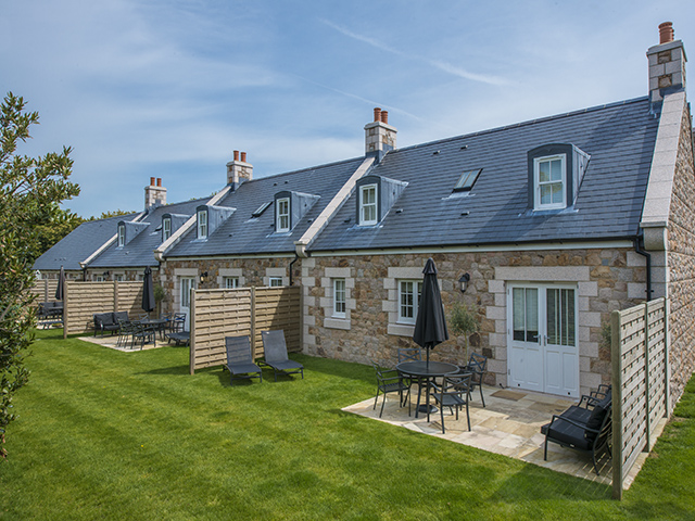All La Place Holiday Cottages have a lawned area with garden furniture