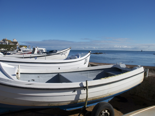 Boats at La Rocque