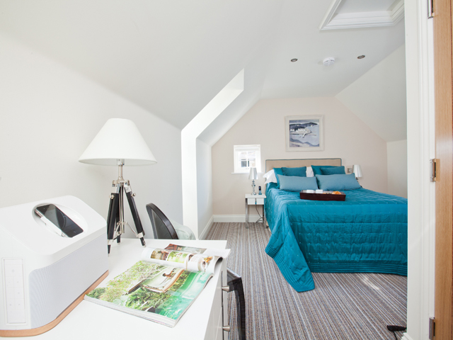 All three bedrooms are stylishly furnished