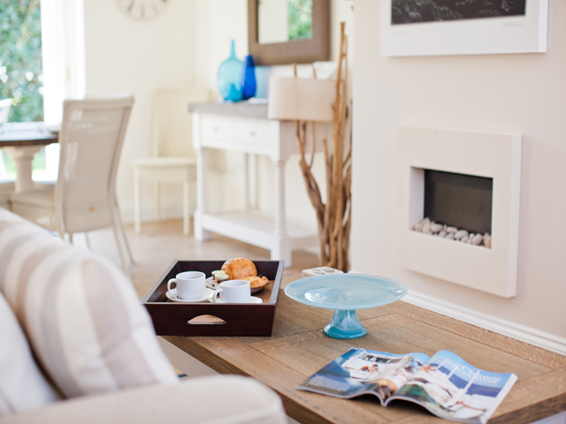 The lounge in all La Place Holiday Cottages are stylishly furnished with sufficient comfortable seating for all guests