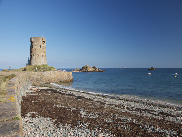 Martello Tower at nearby Le Hocq
