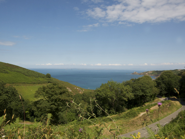 Jersey view  - over Bouley Bay to the french coast
