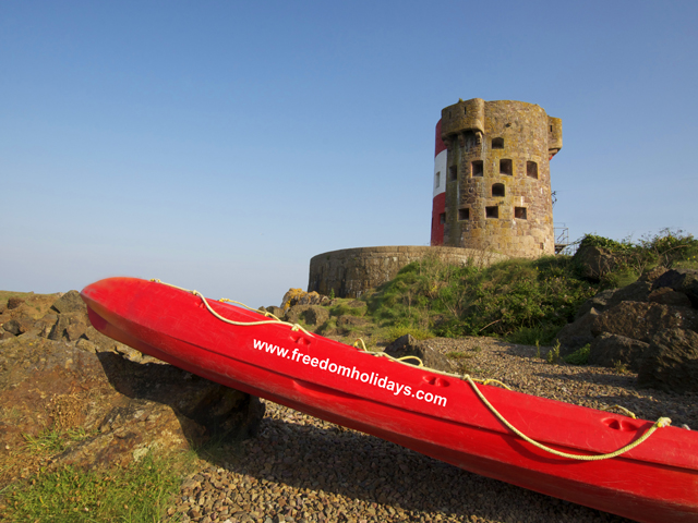 Martello Tower on the east coast of Jersey