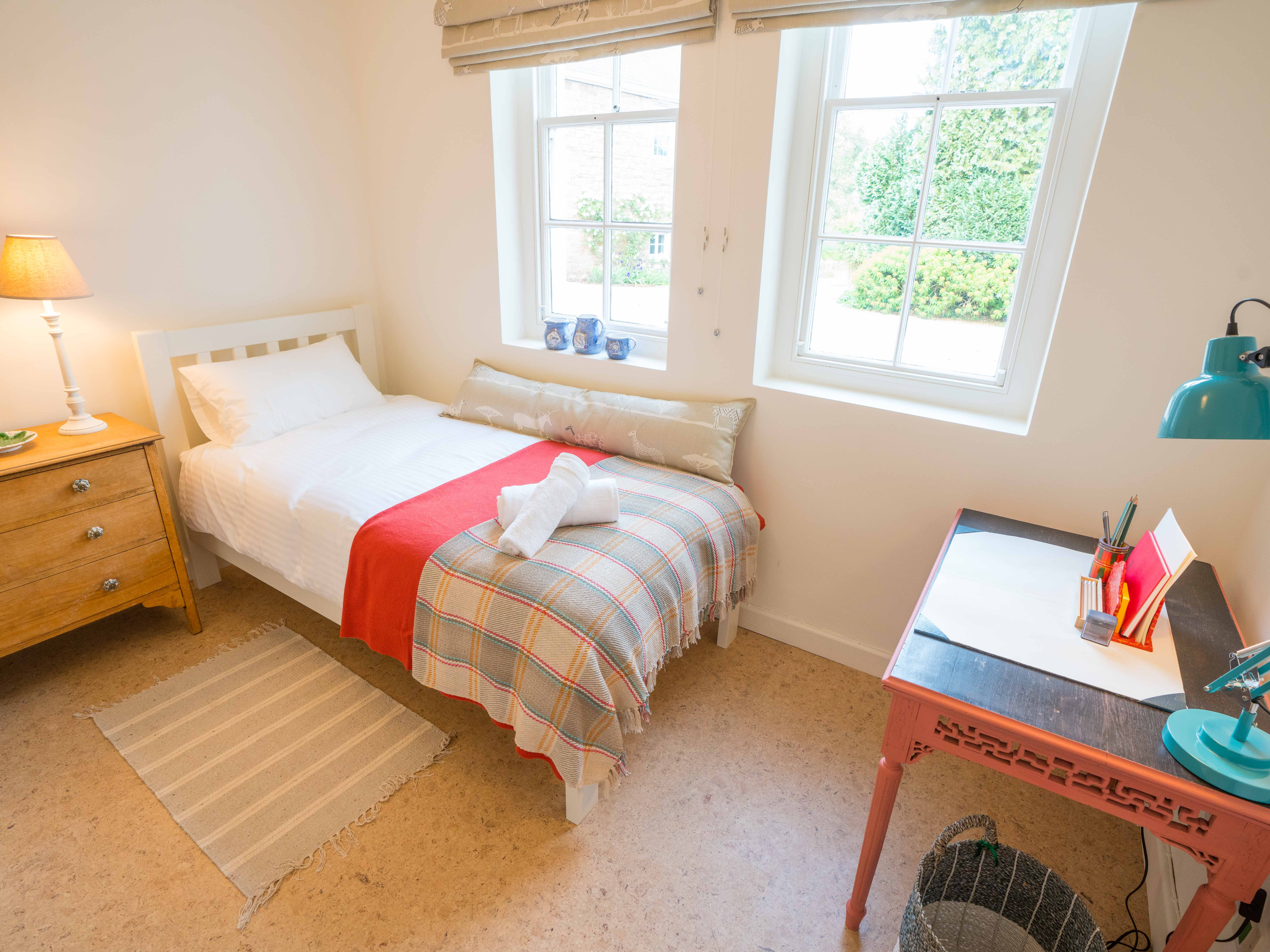 Ground floor single bedroom - this room would share the bathroom facilities upstairs