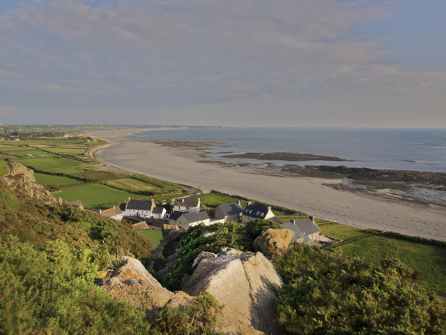 Panoramic view of St Ouen's Bay