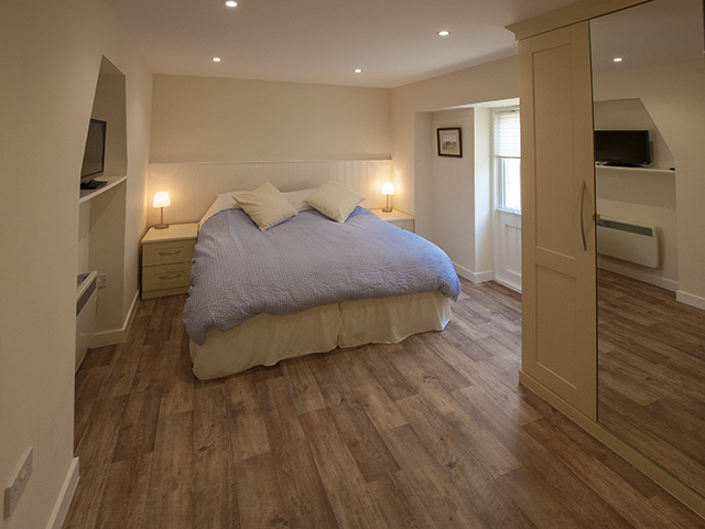 Spacious bedroom can be made up as a double or a twin on request