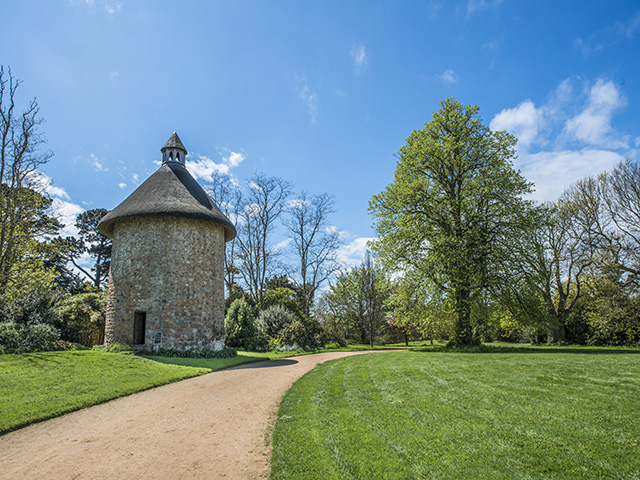 The dovecote in the extensive manor grounds