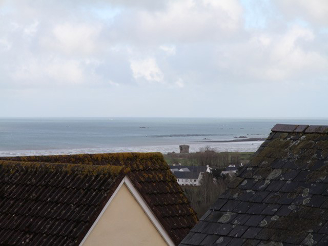 Beautiful distant sea views towards the beach at Gorey