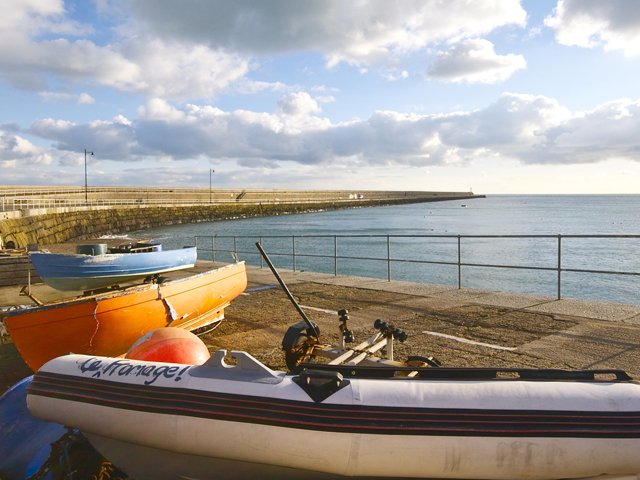 Enjoy a stoll along St Catherine's breakwater on the east coast