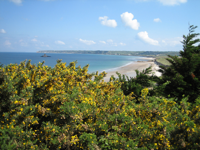 St Ouen's Bay on the west coast is within walking distance