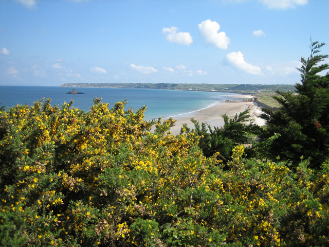View over St Ouen's Bay from the south