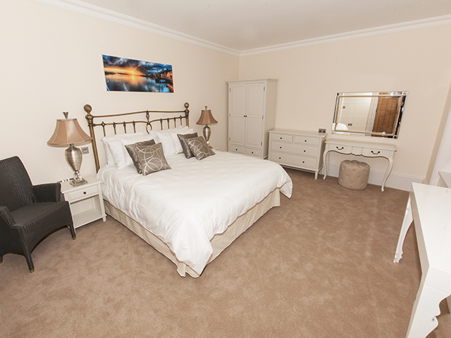 Large bedroom with Superking bed and ensuite shower room